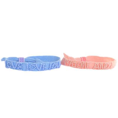 Moon and back & love love set of 2 bracelets