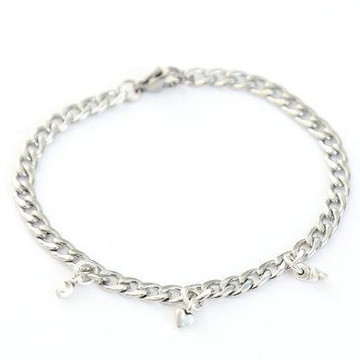 Moon heart star bracelet silver