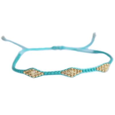 Bracelet miyuki Ibiza turquoise