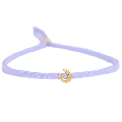 Bracelet for good luck - lilac gold