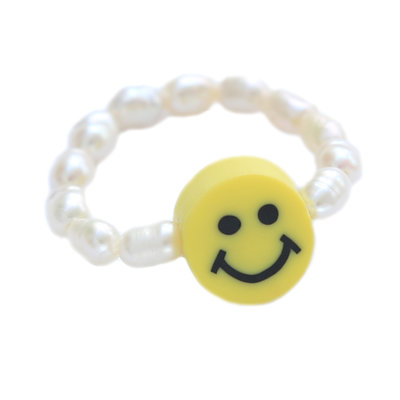 Ring pearl smiley