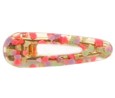 Statement hair clip pink flakes