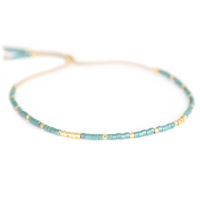 Miyuki bracelet green
