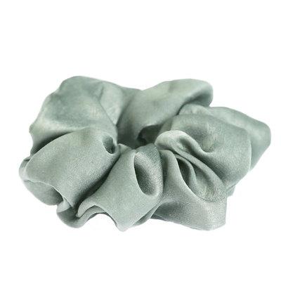Silk scrunchie light olive