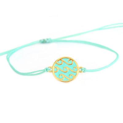 Bracelet waves turquoise