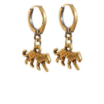 Earrings leopard gold