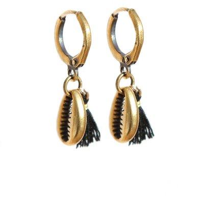 Earrings shell gold