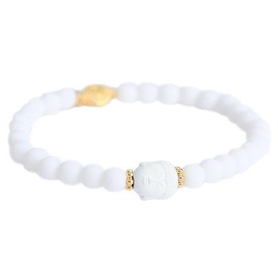 Bracelet buddha blanco