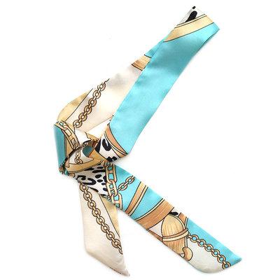 Silk scarf baroque blue