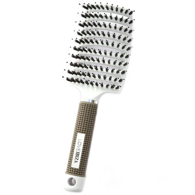 Anti-tangle hairbrush white
