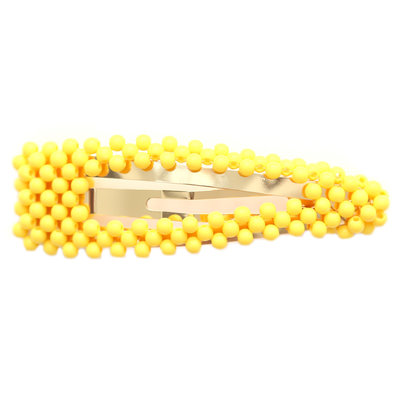 Statement hair clip bubble yellow