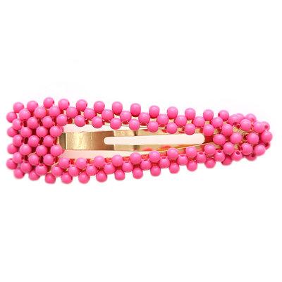 Statement hair clip bubble pink