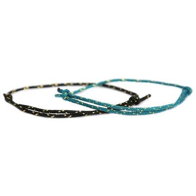 Bracelet set surf culture black and teal gold