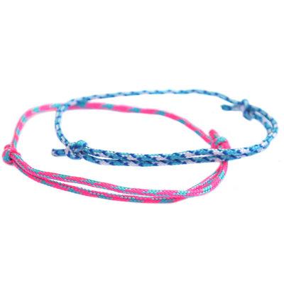Bracelet set surf culture blue