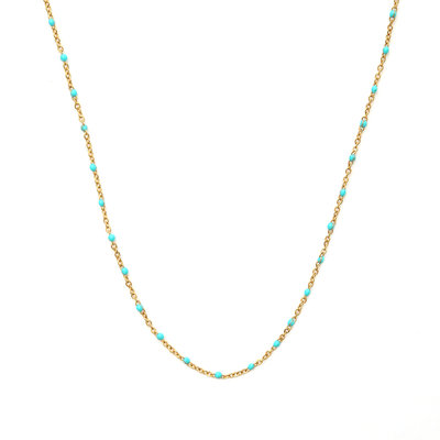 Necklace little chain turquoise