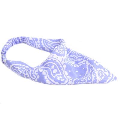 Bandana hair band paisley lilac