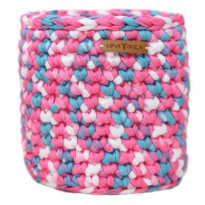 Macrame basket bubblegum