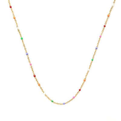 Necklace little chain rainbow