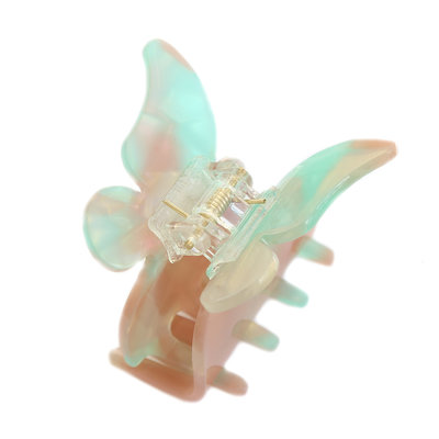 Hair claw butterfly azur