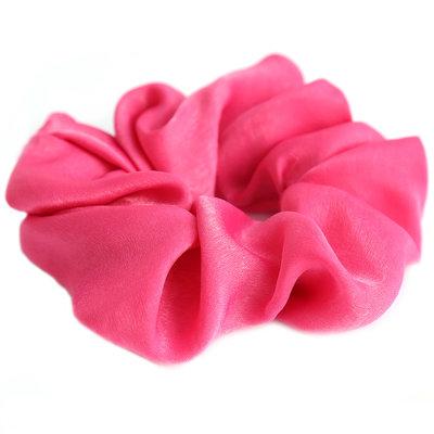 Scrunchie silk pink