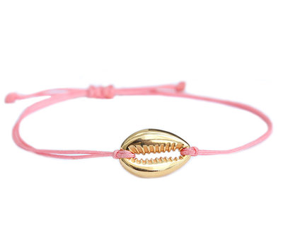 Bracelet coral gold shell