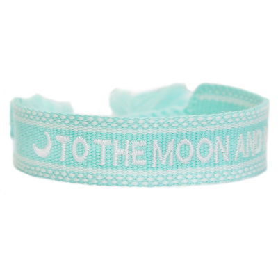 Woven bracelet to the moon and back mint