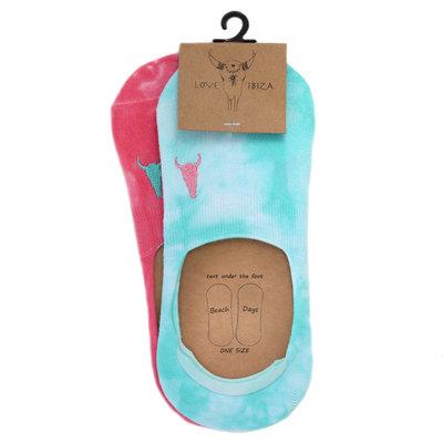 Sneaker socks TIe dye Beach Days set of 2 pairs