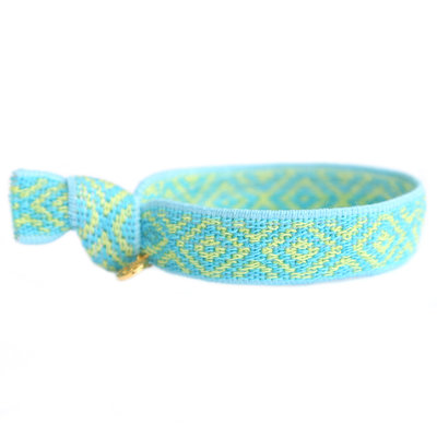 Woven bracelet Mexican blue
