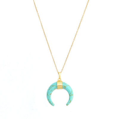 Necklace turquoise bull