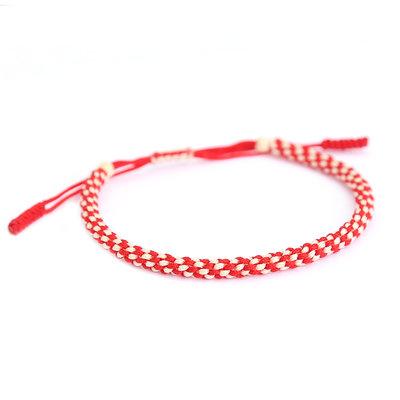 Buddhist bracelet red