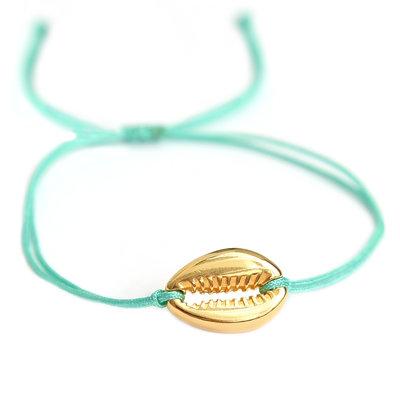 Bracelet turquoise gold shell