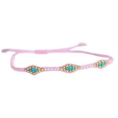 Bracelet miyuki Ibiza pink