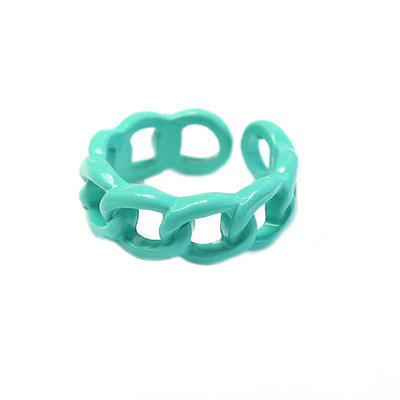 Ring chain turquoise green