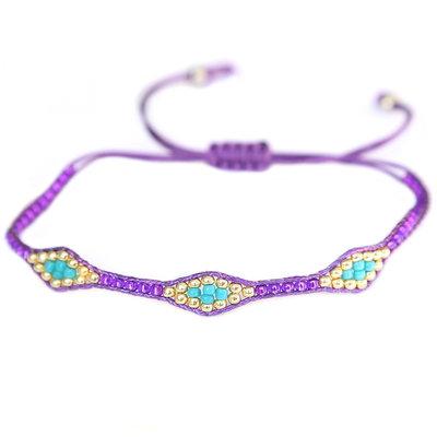 Bracelet miyuki Ibiza purple