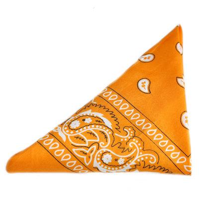 Bandana scarf paisley yellow