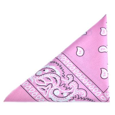 Bandana scarf paisley pink