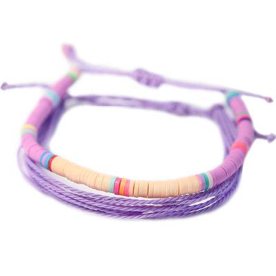Set of 2 bracelets purple surf