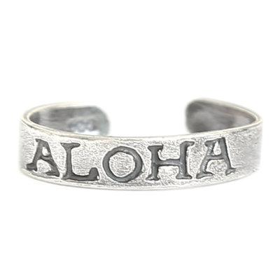 Toe ring Aloha (real silver)