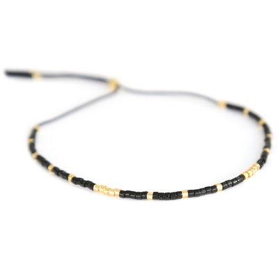 Miyuki bracelet black