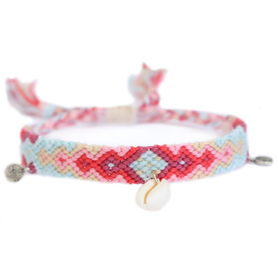 Anklet cotton coral reef