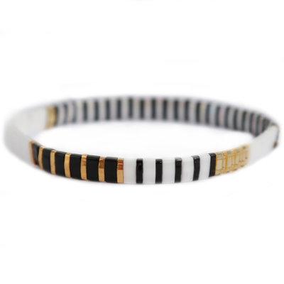 Oyster black white bracelet