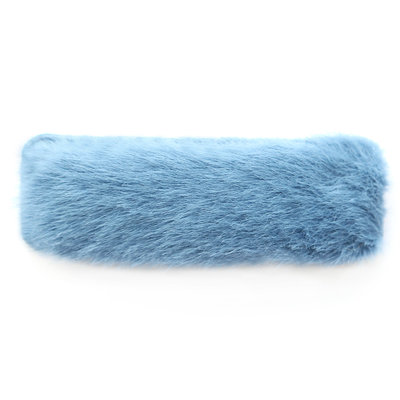 Hair clip fluffy blue