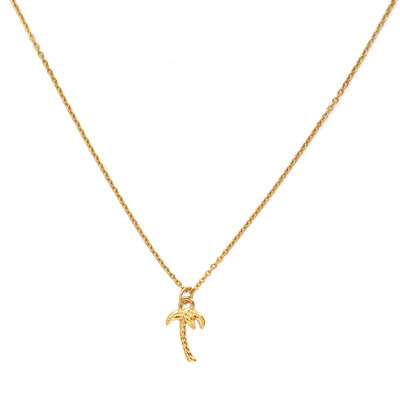 Necklace golden palm tree