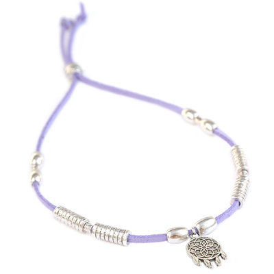 Anklet dreamcatcher lilac