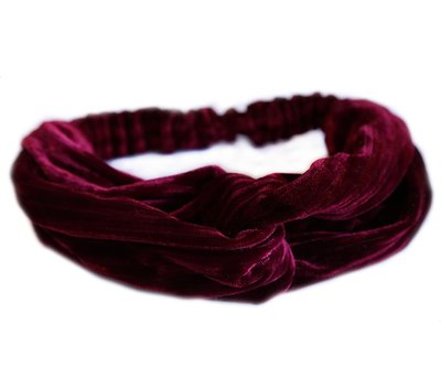 Velvet hair band - Wine