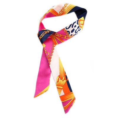 Silk scarf baroque pink