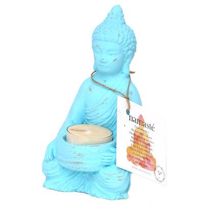Buddha tealight holder turquoise