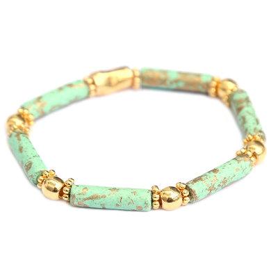 Bracelet Tuscany mint gold