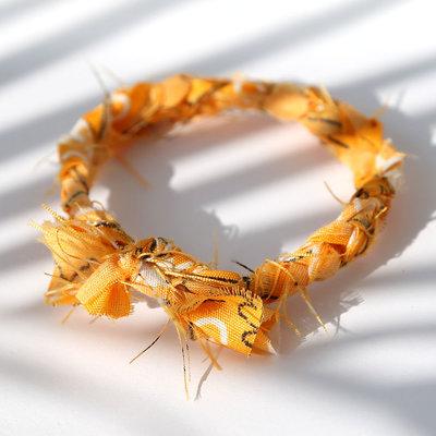 Bracelet bandana braid yellow