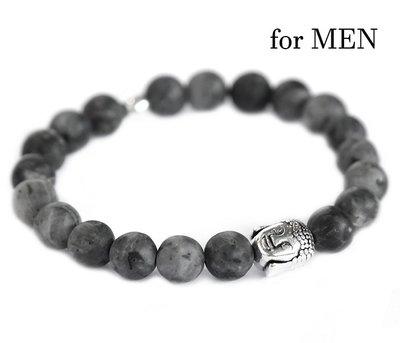 Buddha bracelet black gemstone for men